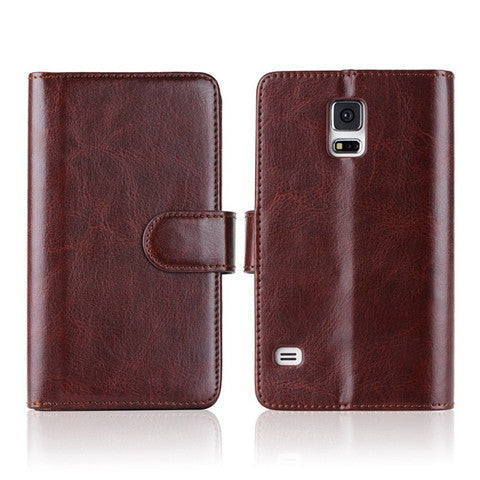 Magnetic Leather Wallet Case For Samsung S5