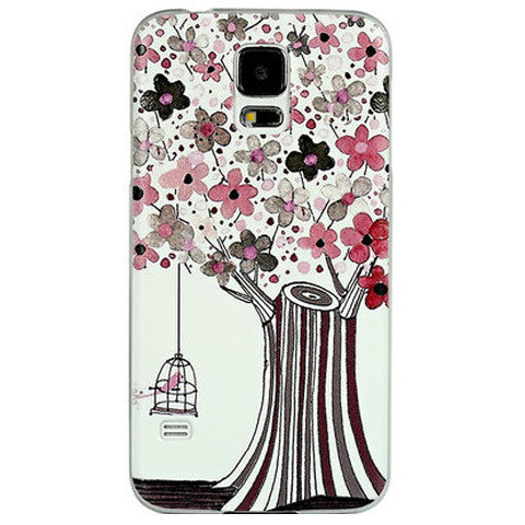 Slim Flower Hard Case for Samsung S5 - BoardwalkBuy