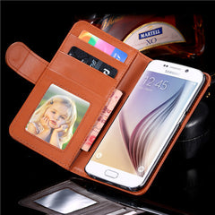 PU Wallet Leather Case for Samsung S6 - BoardwalkBuy - 3