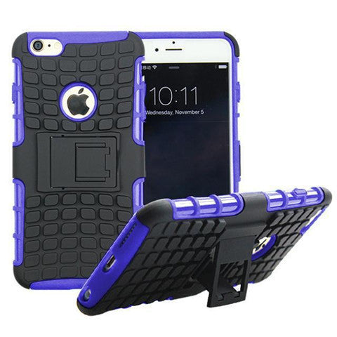 Anti-Shock Armor Hybrid Stand Case For Iphone 6