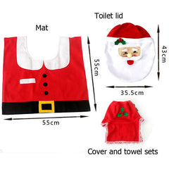 Santa Toilet Seat Cover and Rug Bathroom Set - BoardwalkBuy - 2