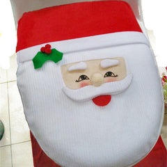 Santa Toilet Seat Cover and Rug Bathroom Set - BoardwalkBuy - 3