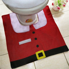 Santa Toilet Seat Cover and Rug Bathroom Set - BoardwalkBuy - 4
