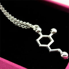 Serotonin Dopamine Acetylcholine Biochemistry Necklace - BoardwalkBuy - 2