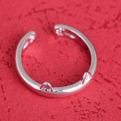 Silver Plated Cat Ear Ring - BoardwalkBuy - 3