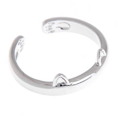 Silver Plated Cat Ear Ring - BoardwalkBuy - 1
