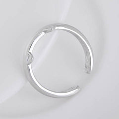 Silver Plated Cat Ear Ring - BoardwalkBuy - 4