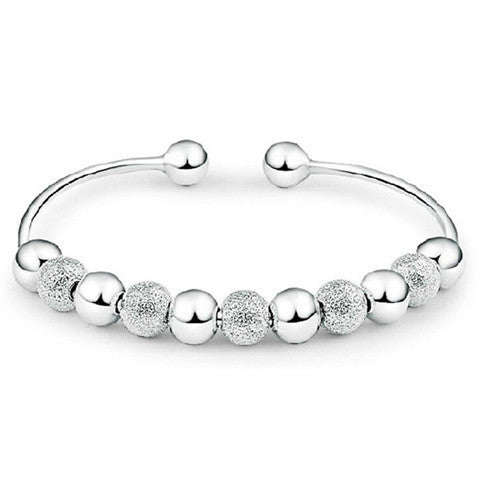 Silver Lady Cute Ball Bracelet