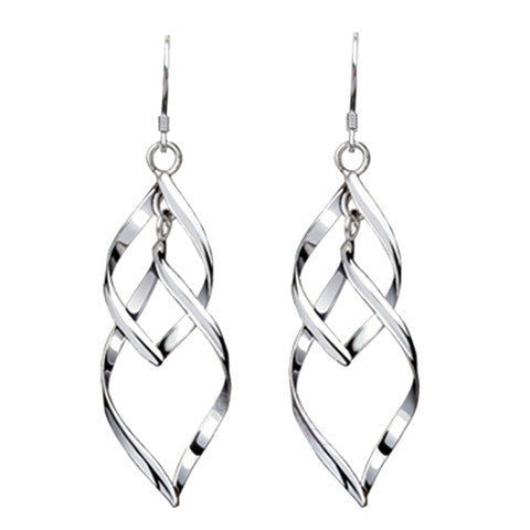 Silver Leaves Fashionable Earrings