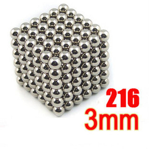 Silver Little Size 3 mm  Magnetic Buckballs - BoardwalkBuy - 1