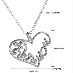 "Silver ""Mom"" Pendant Necklace - BoardwalkBuy - 3"