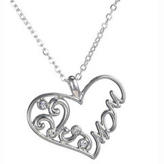 "Silver ""Mom"" Pendant Necklace - BoardwalkBuy - 4"