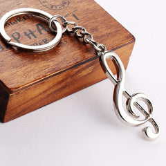 Silver Musical Note Key Chain - BoardwalkBuy - 2