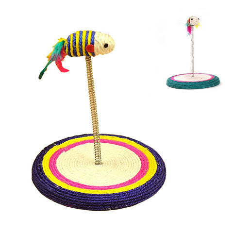 Sisal Spring Colorful Mouse Style Cat Scratch Toys Color Random