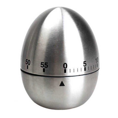 Image of Stainless Steel Mechanical Dial Cooking Kitchen Timer