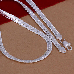 Snake Shape Silver Men's Necklace - BoardwalkBuy - 3