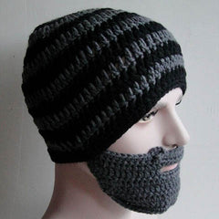 Striped Knit Ski Face Mask Hats for Man - BoardwalkBuy - 2