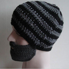 Striped Knit Ski Face Mask Hats for Man - BoardwalkBuy - 4