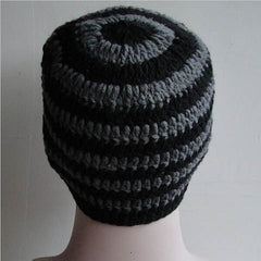 Striped Knit Ski Face Mask Hats for Man - BoardwalkBuy - 6