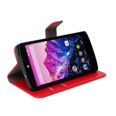 Side Flip Leather Case for Google Nexus 5 - BoardwalkBuy - 5