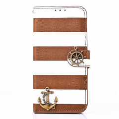 iPhone 6 4.7 Wallet Stripe Leather Case - BoardwalkBuy - 2