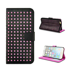 Polka Dots Leather Wallet Case for iPhone 6 - BoardwalkBuy - 2