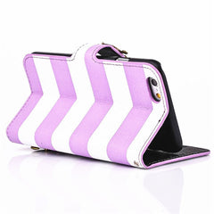 "iPhone 6 4.7"" Wallet Stripe Leather Case - BoardwalkBuy - 4"