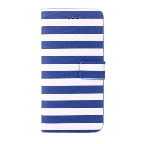 Stripe Leather Wallet Case for iPhone 6 4.7 - BoardwalkBuy - 1