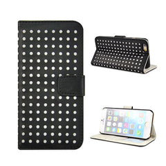 Polka Dots Leather Wallet Case for iPhone 6 - BoardwalkBuy - 5