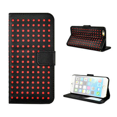 Polka Dots Leather Wallet Case for iPhone 6 - BoardwalkBuy - 6