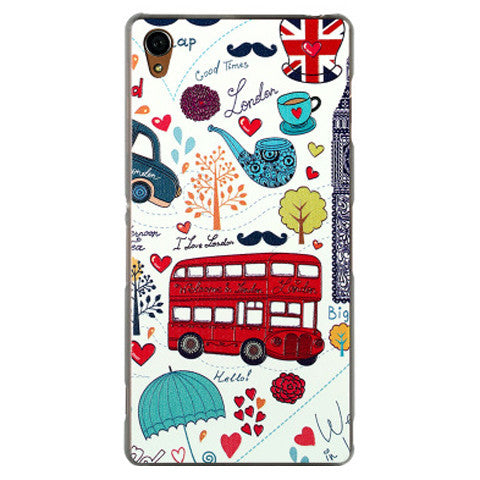 Embossed Hard Case for Sony Xperia Z3 - BoardwalkBuy