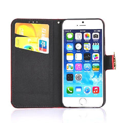 iPhone 6 4.7 Wallet Stripe Leather Case - BoardwalkBuy - 7