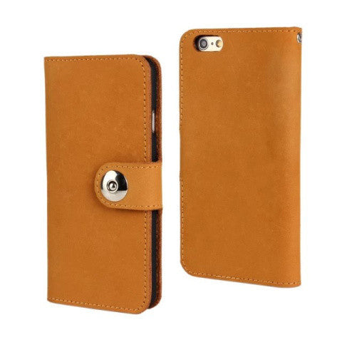 "Cow Leather Wallet Case for iPhone 6 4.7"" - BoardwalkBuy - 1"