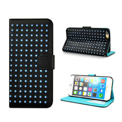 Polka Dots Leather Wallet Case for iPhone 6 - BoardwalkBuy - 3