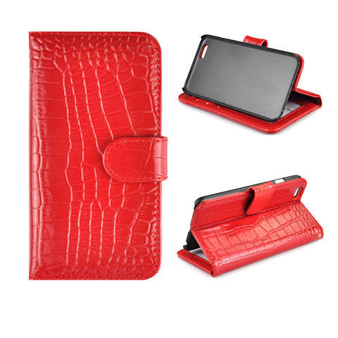 "iPhone 6 4.7"" Crocodile Leather Wallet Case"