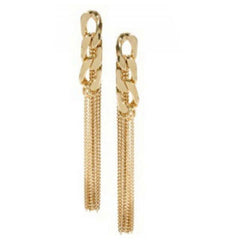 Tassel Pendant  Dangle Elegant Gold Plated Ear Stud - BoardwalkBuy - 2