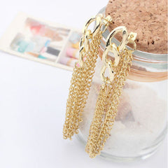 Tassel Pendant  Dangle Elegant Gold Plated Ear Stud - BoardwalkBuy - 3