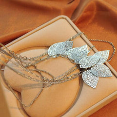 Temperament Bohemia Leaves Multilayer Necklace - BoardwalkBuy - 4