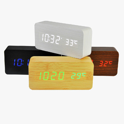 Temperature Sounds Control LED Clock - BoardwalkBuy - 1
