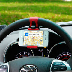 Car Steering Wheel Elastic Design Mobile Phone Holder - BoardwalkBuy - 3