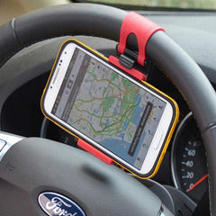 Car Steering Wheel Elastic Design Mobile Phone Holder - BoardwalkBuy - 4