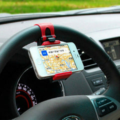 Car Steering Wheel Elastic Design Mobile Phone Holder - BoardwalkBuy - 5