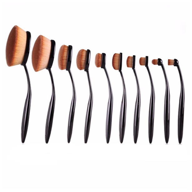 10 Piece Oval Brush Set - BoardwalkBuy - 1