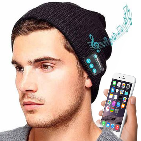 Unisex Bluetooth Beanie Headphones with Built-in Speakers & Bluetooth