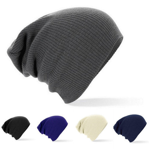 Winter Beanies Solid Color Knit Cap - BoardwalkBuy - 1