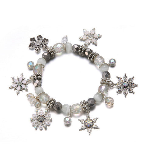 Winter Christmas Charm Bracelet
