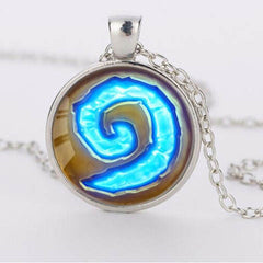 WoW World Glass Round Time Gemstone Necklace - BoardwalkBuy - 2