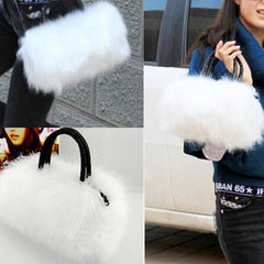 Womans Faux Rabbit Fur Handbag - BoardwalkBuy - 5
