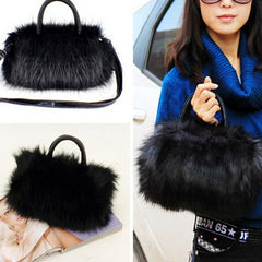 Womans Faux Rabbit Fur Handbag - BoardwalkBuy - 4