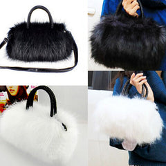 Womans Faux Rabbit Fur Handbag - BoardwalkBuy - 6
